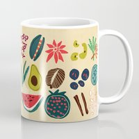spice Mugs featuring Fruit and Spice Rack by Picomodi
