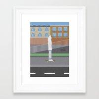 skate Framed Art Prints featuring Skate by Bastodesign