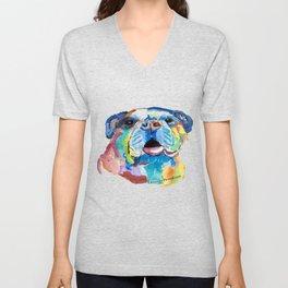 Blissful Bulldog Unisex V-Neck