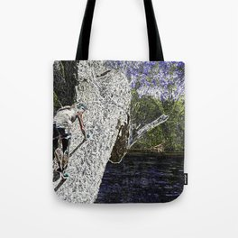 Climbing to Nirvana Tote Bag