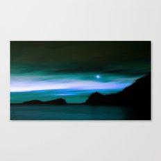 Moonlit Water color Canvas Print