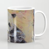 cigarette Mugs featuring Cigarette Break by Michael Creese