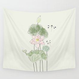 Pond of tranquility Wall Tapestry