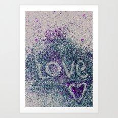 Love and Glitter Art Print
