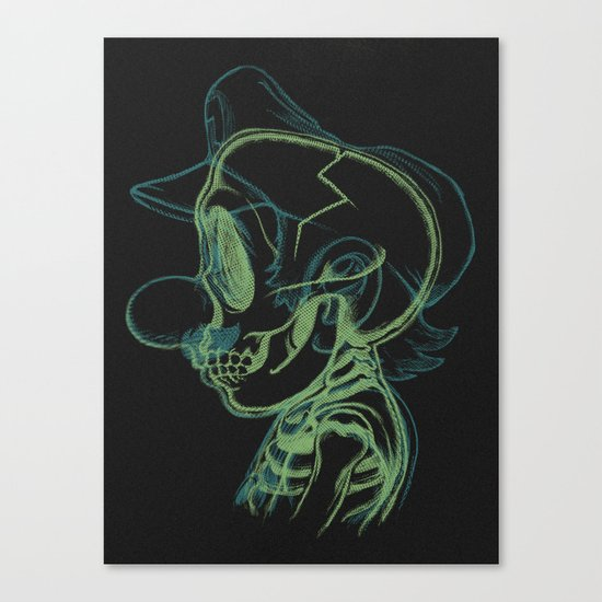 X-Ray of the Brick Breaker. Canvas Print