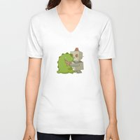 best friends V-neck T-shirts featuring Best Friends by JasmineC