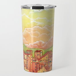 Sunset Town Travel Mug