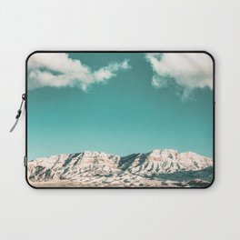 Vintage Desert Snowcaps // Sandy Mojave Covered in Snow at Red Rock Canyon National Park Nature Laptop Sleeve