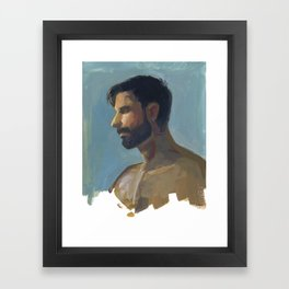 BRAD, Semi-Nude Male by Frank-Joseph Framed Art Print