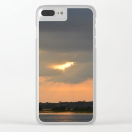 across the sound from Topsail Clear iPhone Case