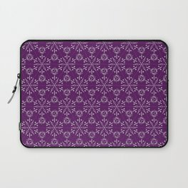 Hexagonal Circles - Elderberry Laptop Sleeve