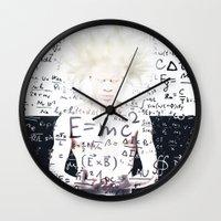 einstein Wall Clocks featuring einstein by Taranta Babu