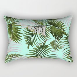 Tropical Leaf Pattern II Rectangular Pillow