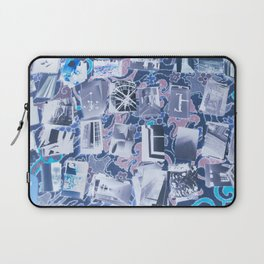 Traveling in Time Blue Laptop Sleeve