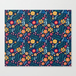 """Cute Floral pattern of small flowers. """"Ditsy print"""". Canvas Print"""