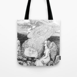 """untitled lV """"illustrations from a lost novel"""" Tote Bag"""