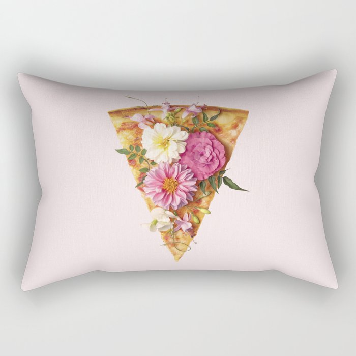 FLORAL PIZZA Rectangular Pillow
