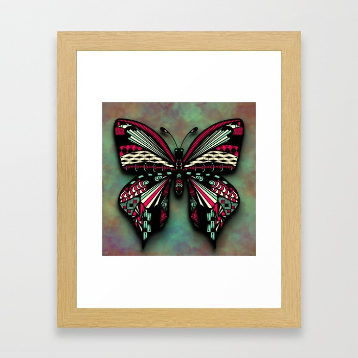Butterfly Tangle Framed Art Print