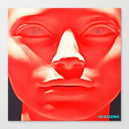 Red face Canvas Print