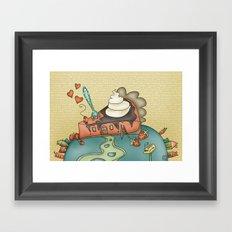 Giant Happy Pie Framed Art Print