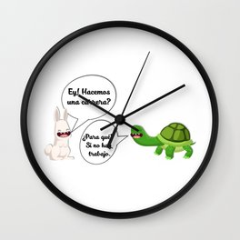 graphic humor 1 Wall Clock