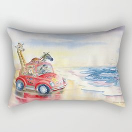 Go To The Beach Rectangular Pillow