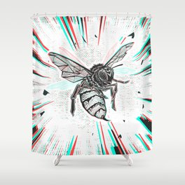 This wasp is pissed! Shower Curtain