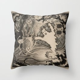 Adventure at the Factory Electric Throw Pillow