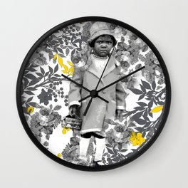 LITTLE GIRLS LIKE ROSES AND ANIMAL CRACKERS NEED NO EXCUSE Wall Clock