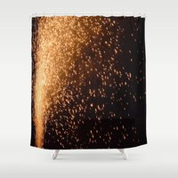 fireworks Shower Curtains featuring Fireworks  by MelissaLaDouxPhoto