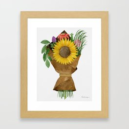 Market Flowers Framed Art Print