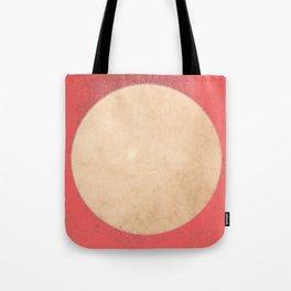 Imperial Coral - Moon Minimalism Tote Bag