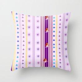 Fairy stripe Throw Pillow