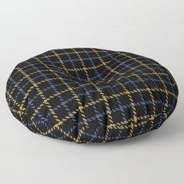 Aberdeen, Alpine,  Resolution Blue,  Camel, Tattered Salvatore Floor Pillow