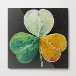 Irish Shamrock Metal Print