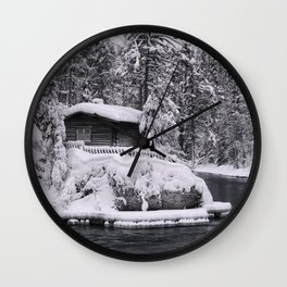 Winter In Lapland Finland Wall Clock