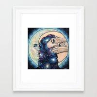 celestial Framed Art Prints featuring Celestial  by Wendy Ortiz