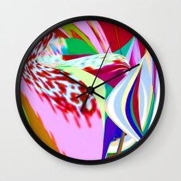 Planta rosa Wall Clock