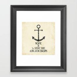 Where The Anchor Drops Framed Art Print