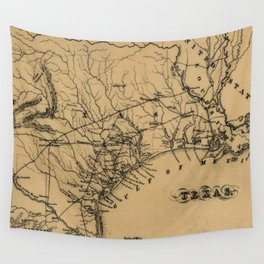 Vintage Map of Texas (1838) Wall Tapestry