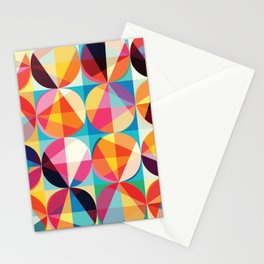 Beautiful colors Geometry, geometric abstract triangles circles squares Stationery Cards