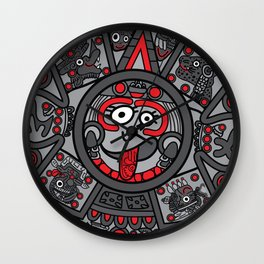 Mexicanitos al grito - Calendarito Azteca Wall Clock