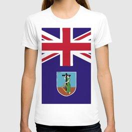 Montserrat flag emblem T-shirt