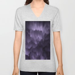 Purple and black. Abstract. Unisex V-Neck