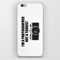 photographer iPhone & iPod Skins featuring Photographer Tourist Funny by bitobots