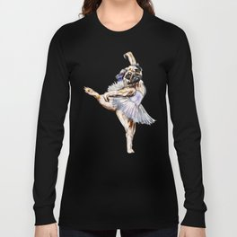 Pug Ballerina in Dog Ballet   Swan Lake  Long Sleeve T-shirt