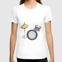 drum T-shirts featuring Drum Set by shopaholic chick