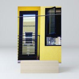 Second And Third Floor Windows With Door Mini Art Print