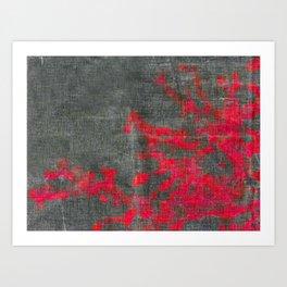 abstract pink branchs Art Print