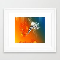 piano Framed Art Prints featuring Piano by nicky2342